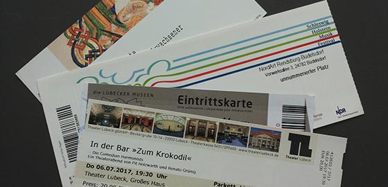 Private Eintrittskarten willkommen