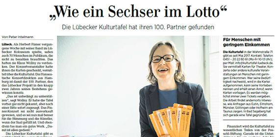 Lübecker Nachrichten – 21./22.04.2019