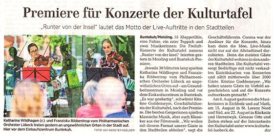 Lübecker Nachrichten – 02.08.2020